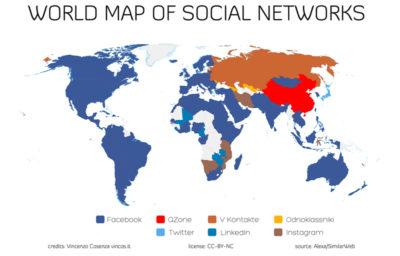 diffusione social network nel mondo