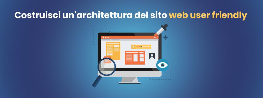 Crea un'architettura del sito web user frienfly